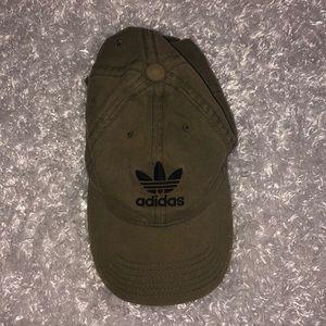 Green Adidas baseball cap